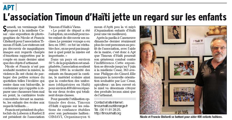 Expo photos Timoun Haïti Viens et Apt